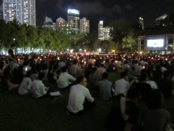 This year's candlelight vigil in the heart of Hong Kong honoring the participants and victims at Beijing's 1989 Tiananmen Square demonstrations.